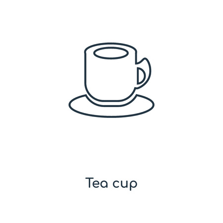 Tea cup concept line icon. Linear Tea cup concept outline symbol design. This simple element illustration can be used for web and mobile UI/UX.