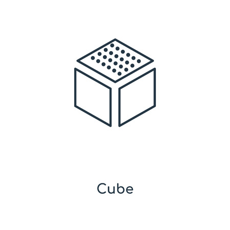 Cube concept line icon. Linear Cube concept outline symbol design. This simple element illustration can be used for web and mobile UI/UX.