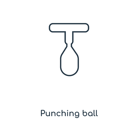 Punching ball concept line icon. Linear Punching ball concept outline symbol design. This simple element illustration can be used for web and mobile UI/UX. Illustration