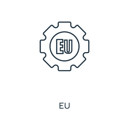 EU concept line icon. Linear EU concept outline symbol design. This simple element illustration can be used for web and mobile UIUX.