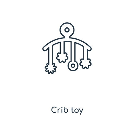 Crib toy concept line icon. Linear Crib toy concept outline symbol design. This simple element illustration can be used for web and mobile UI/UX.