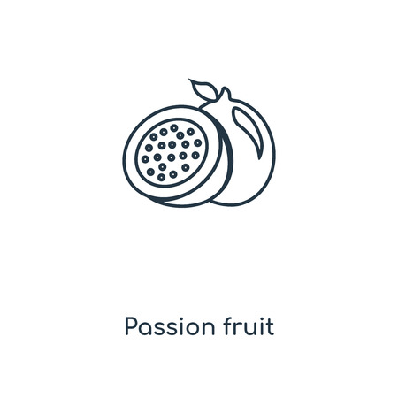Passion fruit concept line icon. Linear Passion fruit concept outline symbol design. This simple element illustration can be used for web and mobile UIUX. Illustration