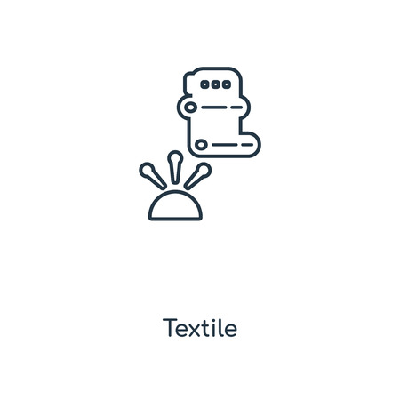 Textile concept line icon. Linear Textile concept outline symbol design. This simple element illustration can be used for web and mobile UI/UX.