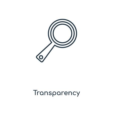 Symbol für die Leitung des Transparenzkonzepts. Lineares Transparenzkonzept skizziert Symboldesign. Diese einfache Elementillustration kann für Web- und mobile UI/UX verwendet werden. Vektorgrafik