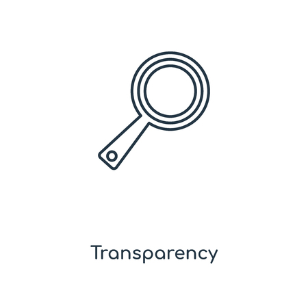 Transparency concept line icon. Linear Transparency concept outline symbol design. This simple element illustration can be used for web and mobile UI/UX.