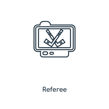 Referee concept line icon. Linear Referee concept outline symbol design. This simple element illustration can be used for web and mobile UI/UX.