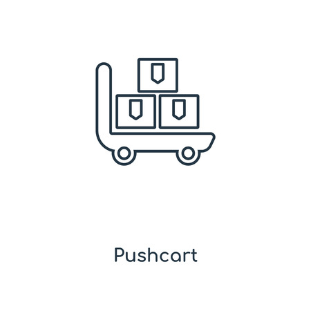 Pushcart concept line icon. Linear Pushcart concept outline symbol design. This simple element illustration can be used for web and mobile UIUX. Illustration