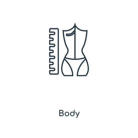 Body concept line icon. Linear Body concept outline symbol design. This simple element illustration can be used for web and mobile UIUX. Illustration