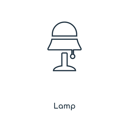 Lamp concept line icon. Linear Lamp concept outline symbol design. This simple element illustration can be used for web and mobile UI/UX.