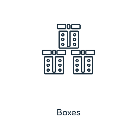 Boxes concept line icon. Linear Boxes concept outline symbol design. This simple element illustration can be used for web and mobile UIUX.