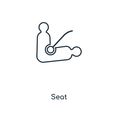 Seat concept line icon. Linear Seat concept outline symbol design. This simple element illustration can be used for web and mobile UI/UX.