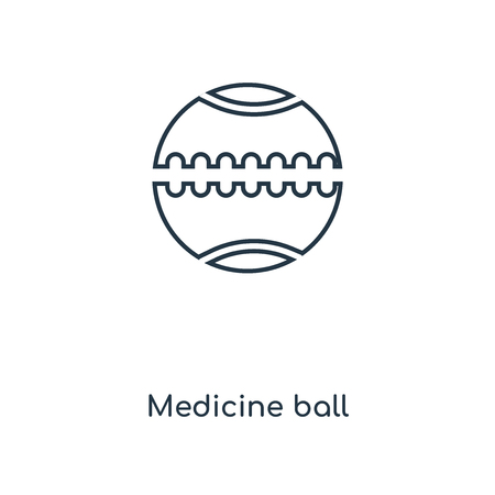 Medicine ball concept line icon. Linear Medicine ball concept outline symbol design. This simple element illustration can be used for web and mobile UI/UX. Illustration