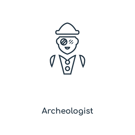 Archeologist concept line icon. Linear Archeologist concept outline symbol design. This simple element illustration can be used for web and mobile UI/UX.