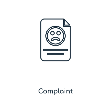 Complaint concept line icon. Linear Complaint concept outline symbol design. This simple element illustration can be used for web and mobile UIUX.