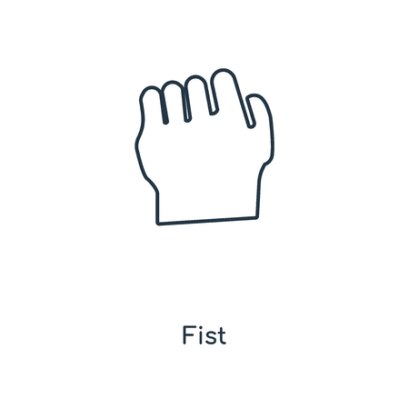 Fist concept line icon. Linear Fist concept outline symbol design. This simple element illustration can be used for web and mobile UI/UX. Illustration