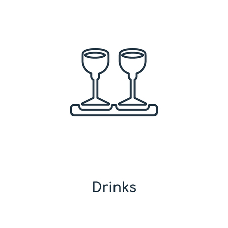 Drinks concept line icon. Linear Drinks concept outline symbol design. This simple element illustration can be used for web and mobile UI/UX. Vecteurs