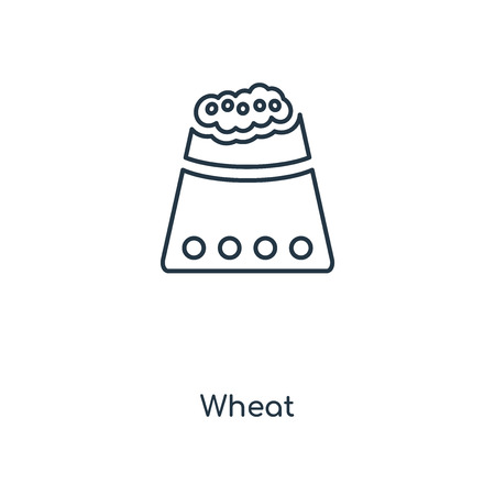 Wheat concept line icon. Linear Wheat concept outline symbol design. This simple element illustration can be used for web and mobile UI/UX.