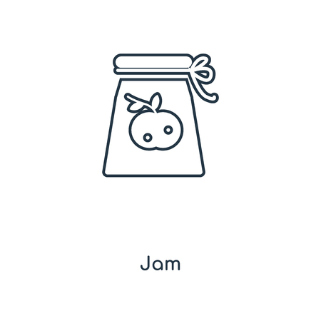 Jam concept line icon. Linear Jam concept outline symbol design. This simple element illustration can be used for web and mobile UIUX.