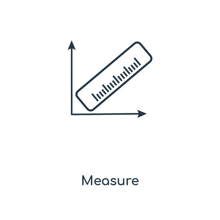 Measure concept line icon. Linear Measure concept outline symbol design. This simple element illustration can be used for web and mobile UI/UX. Vector Illustratie