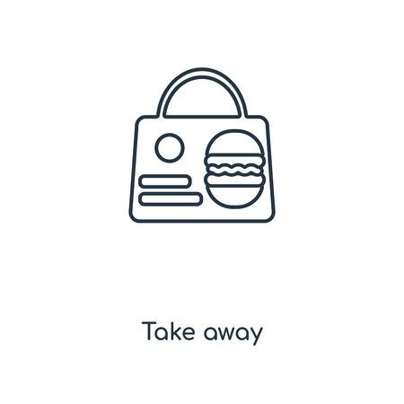 Icône de ligne concept à emporter. Conception de symbole de contour de concept à emporter linéaire. Cette illustration d'élément simple peut être utilisée pour l'interface utilisateur/UX Web et mobile.
