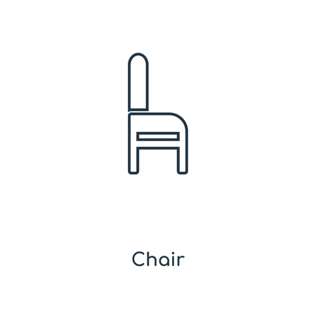 Chair concept line icon. Linear Chair concept outline symbol design. This simple element illustration can be used for web and mobile UI/UX.