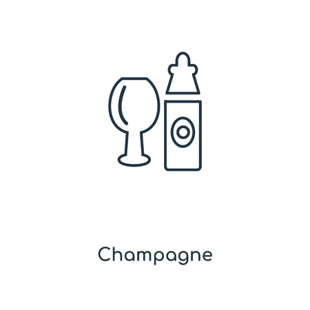 Champagne concept line icon. Linear Champagne concept outline symbol design. This simple element illustration can be used for web and mobile UI/UX.