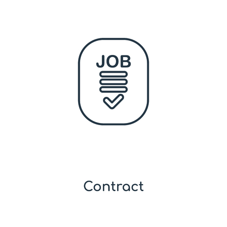 Contract concept line icon. Linear Contract concept outline symbol design. This simple element illustration can be used for web and mobile UI/UX.