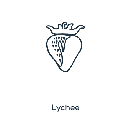 Lychee concept line icon. Linear Lychee concept outline symbol design. This simple element illustration can be used for web and mobile UI/UX. Banque d'images - 113547974