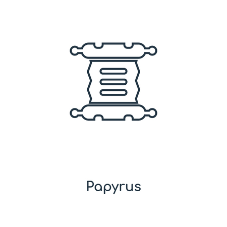 Papyrus concept line icon. Linear Papyrus concept outline symbol design. This simple element illustration can be used for web and mobile UI/UX. Foto de archivo - 113547991