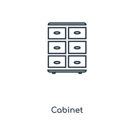 Cabinet concept line icon. Linear Cabinet concept outline symbol design. This simple element illustration can be used for web and mobile UI/UX.