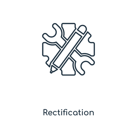 Rectification concept line icon. Linear Rectification concept outline symbol design. This simple element illustration can be used for web and mobile UI/UX.