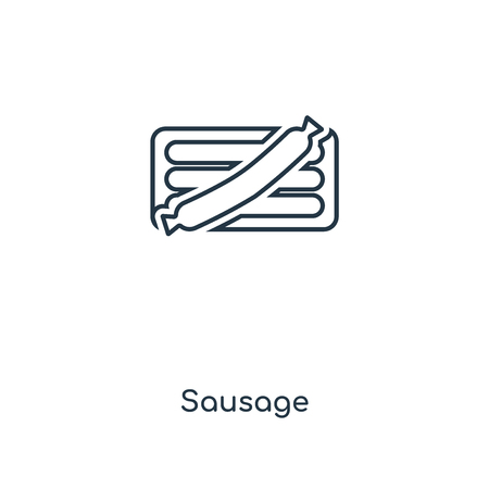 Sausage concept line icon. Linear Sausage concept outline symbol design. This simple element illustration can be used for web and mobile UI/UX.