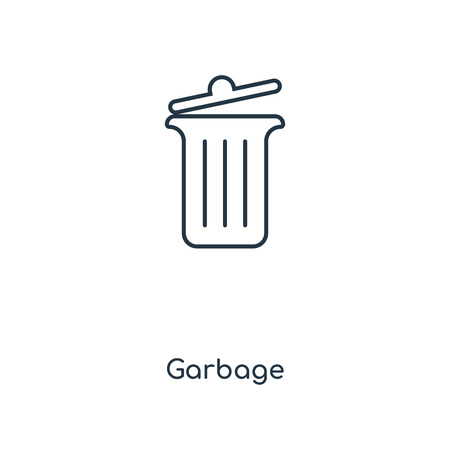 Garbage concept line icon. Linear Garbage concept outline symbol design. This simple element illustration can be used for web and mobile UIUX.