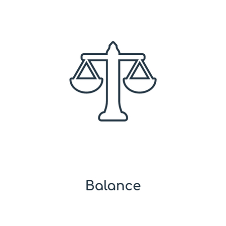 Balance concept line icon. Linear Balance concept outline symbol design. This simple element illustration can be used for web and mobile UI/UX. Illustration