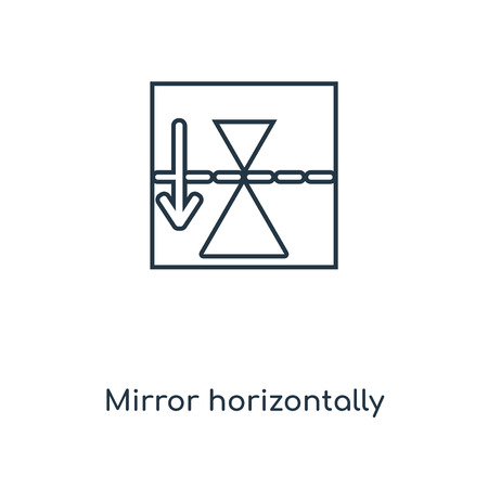 Mirror horizontally concept line icon. Linear Mirror horizontally concept outline symbol design. This simple element illustration can be used for web and mobile UI/UX.