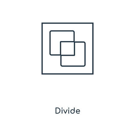 Divide concept line icon. Linear Divide concept outline symbol design. This simple element illustration can be used for web and mobile UIUX.