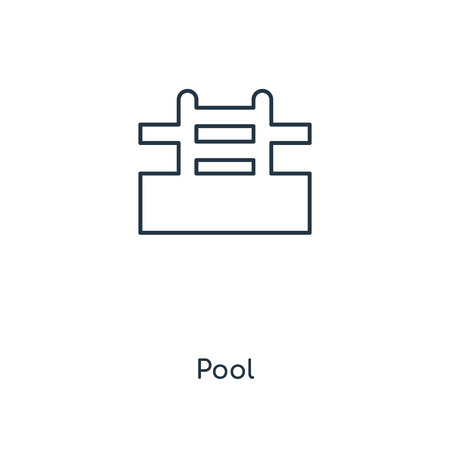 Pool concept line icon. Linear Pool concept outline symbol design. This simple element illustration can be used for web and mobile UI/UX.