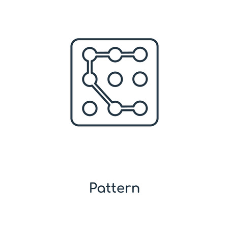 Pattern concept line icon. Linear Pattern concept outline symbol design. This simple element illustration can be used for web and mobile UIUX. Illustration