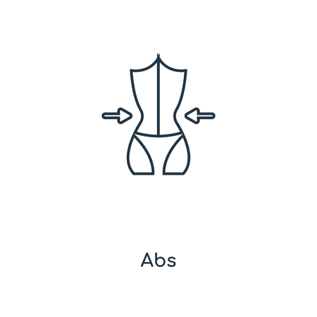 Abs concept line icon. Linear Abs concept outline symbol design. This simple element illustration can be used for web and mobile UIUX.