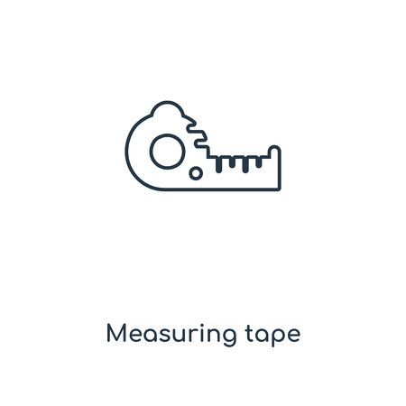 Measuring tape concept line icon. Linear Measuring tape concept outline symbol design. This simple element illustration can be used for web and mobile UIUX. Illustration