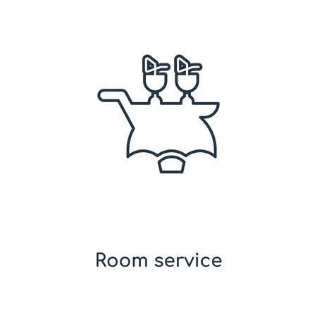 Room service concept line icon. Linear Room service concept outline symbol design. This simple element illustration can be used for web and mobile UIUX.