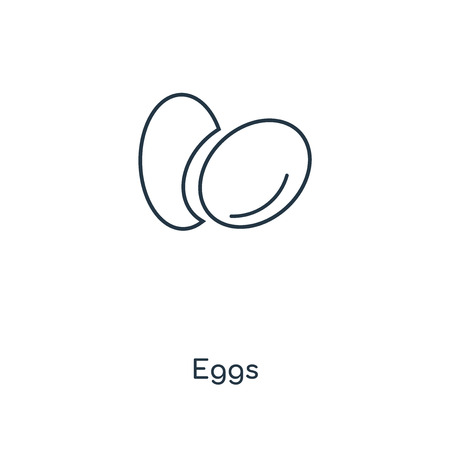 Eggs concept line icon. Linear Eggs concept outline symbol design. This simple element illustration can be used for web and mobile UIUX.