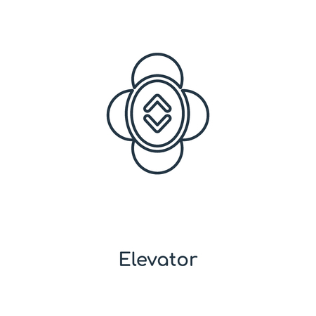 Elevator concept line icon. Linear Elevator concept outline symbol design. This simple element illustration can be used for web and mobile UI/UX.