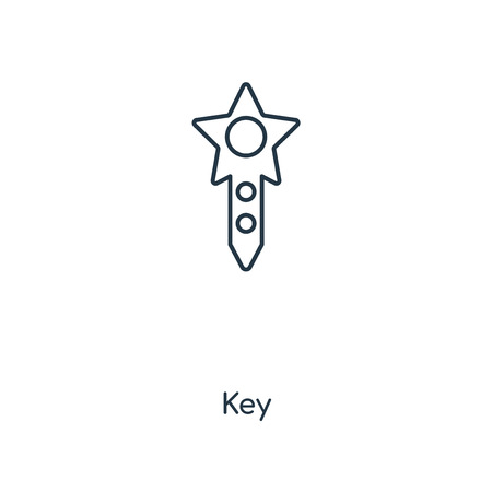 Key concept line icon. Linear Key concept outline symbol design. This simple element illustration can be used for web and mobile UI/UX.