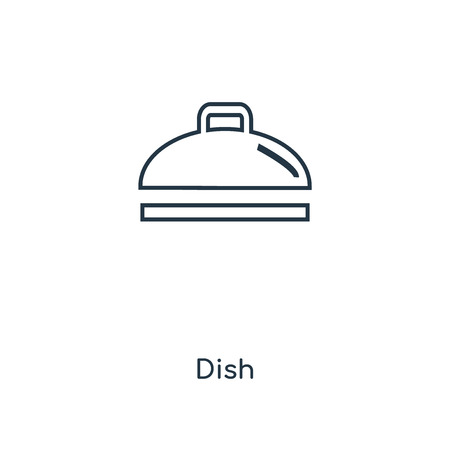 Dish concept line icon. Linear Dish concept outline symbol design. This simple element illustration can be used for web and mobile UI/UX.