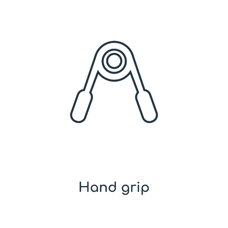Hand grip concept line icon. Linear Hand grip concept outline symbol design. This simple element illustration can be used for web and mobile UIUX. Çizim