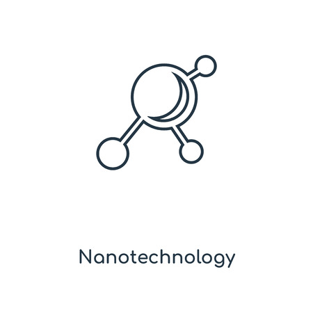 Nanotechnology concept line icon. Linear Nanotechnology concept outline symbol design. This simple element illustration can be used for web and mobile UI/UX. Ilustracja