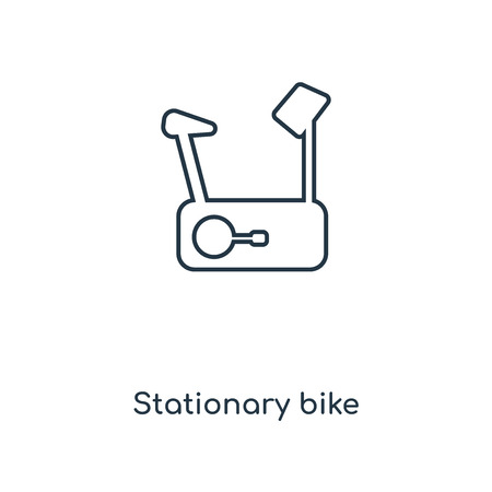Stationary bike concept line icon. Linear Stationary bike concept outline symbol design. This simple element illustration can be used for web and mobile UI/UX.