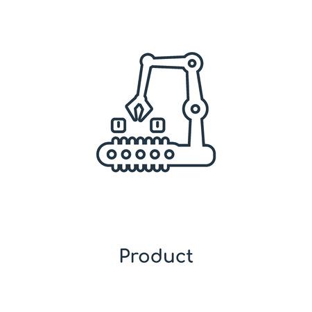 Symbol für die Produktlinie. Lineares Produktkonzept skizziert Symboldesign. Diese einfache Elementillustration kann für Web- und mobile UI/UX verwendet werden.