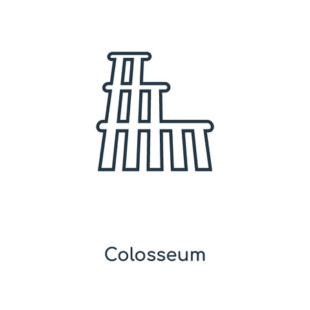 Colosseum concept line icon. Linear Colosseum concept outline symbol design. This simple element illustration can be used for web and mobile UIUX.